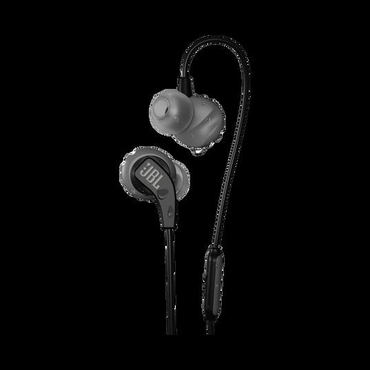 JBL Endurance RUN - Black - Sweatproof Wired Sport In-Ear Headphones - Hero