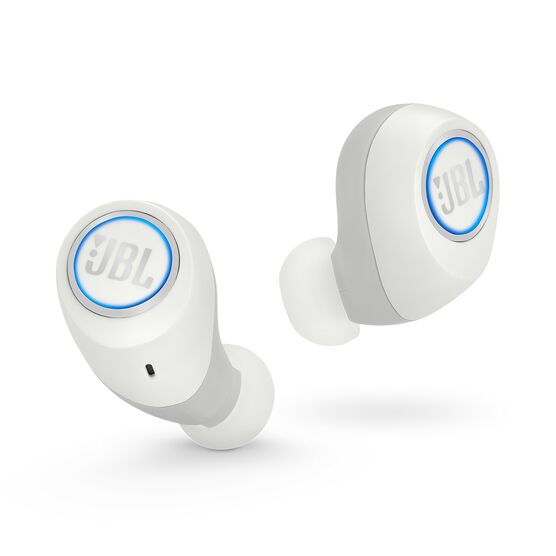 JBL Free X - White - Truly wireless in-ear headphones - Front