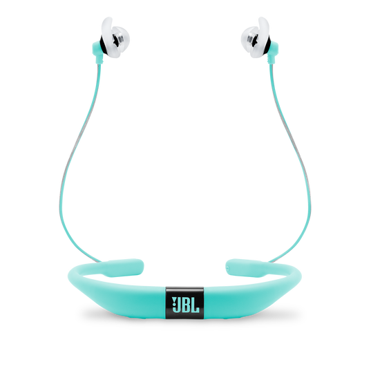 JBL Reflect Fit - Teal - Heart Rate Wireless Headphones - Back