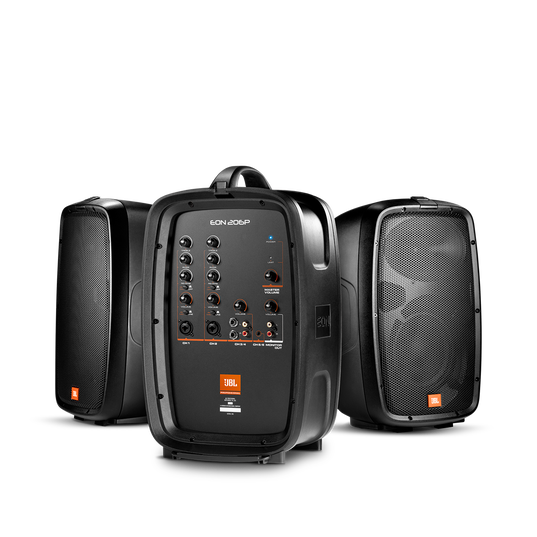 """JBL EON206P - Black - Portable 6.5"""" Two-Way system with detachable powered mixer - Hero"""