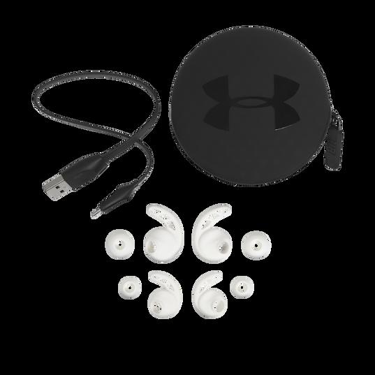 UA Sport Wireless PIVOT - White - Secure-fitting wireless sport earphones with JBL technology and sound - Detailshot 5