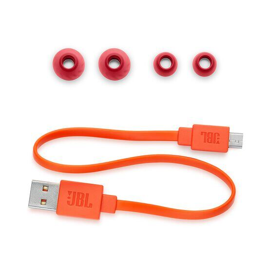 JBL LIVE 200BT - Red - Wireless in-ear neckband headphones - Detailshot 3