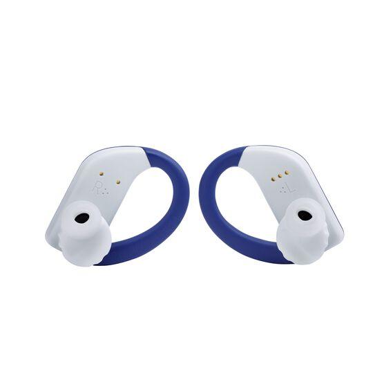 JBL Endurance PEAK - Blue - Waterproof True Wireless In-Ear Sport Headphones - Back
