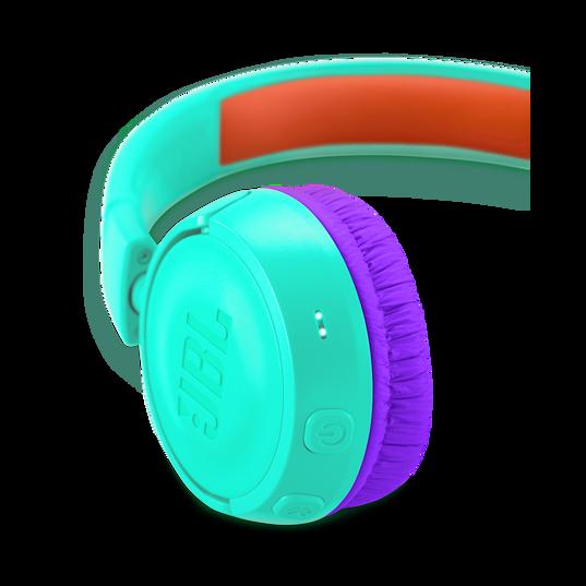 JBL JR300BT - Tropic Teal - Kids Wireless on-ear headphones - Detailshot 2