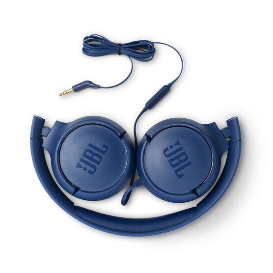JBL TUNE 500 - Blue - Wired on-ear headphones - Detailshot 1