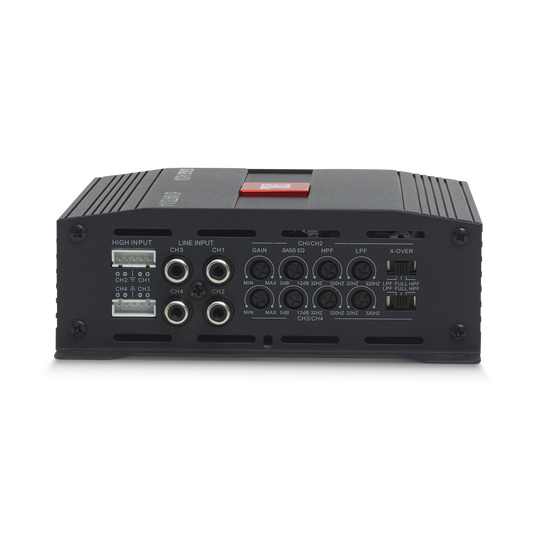 JBL Stage Amplifier A6004 - Black - Class D Car Audio Amplifier - Back
