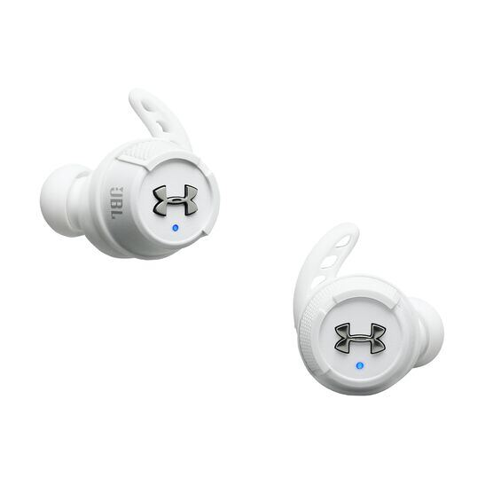 Under Armour® True Wireless Flash – Engineered by JBL® - White - Truely wireless sport headphones for your every run, with JBL technology and sound. - Hero