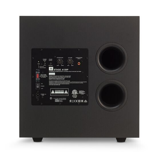 JBL Stage A120P - Black - Home Audio Loudspeaker System - Back