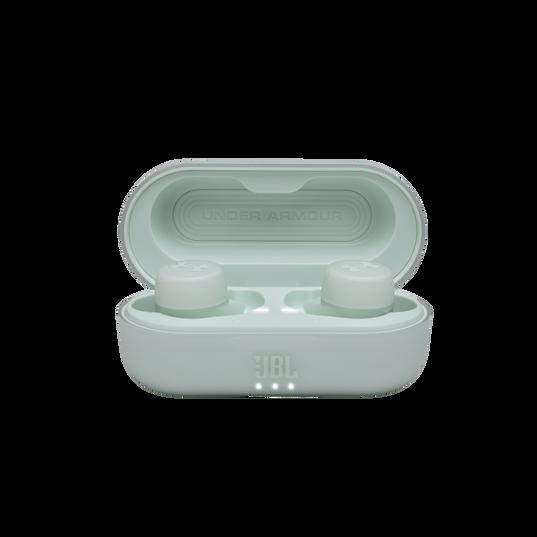 UA True Wireless Streak - Teal - Ultra-compact In-Ear Sport Headphones - Detailshot 4