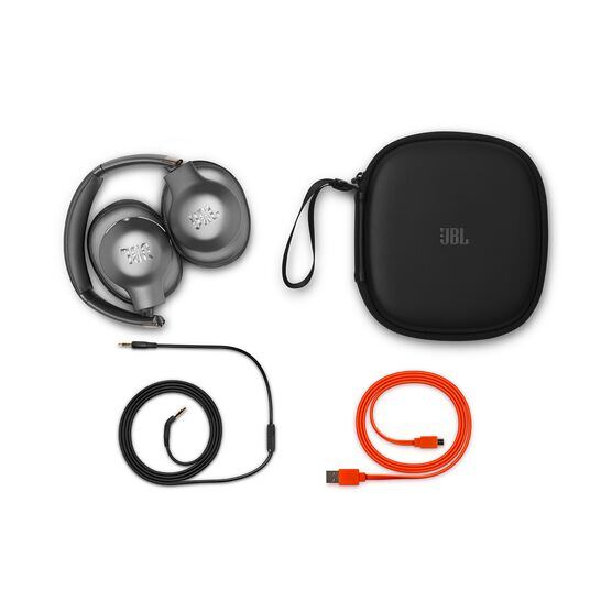 JBL EVEREST™ ELITE 750NC - Gun Metal - Wireless Over-Ear Adaptive Noise Cancelling headphones - Detailshot 4