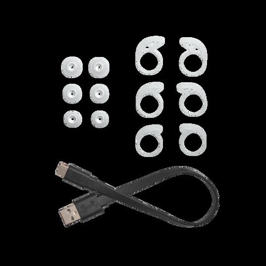 UA True Wireless Streak - White - Ultra-compact In-Ear Sport Headphones - Detailshot 8