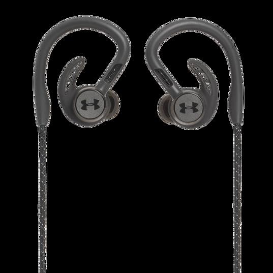 UA Sport Wireless PIVOT - Black - Secure-fitting wireless sport earphones with JBL technology and sound - Back