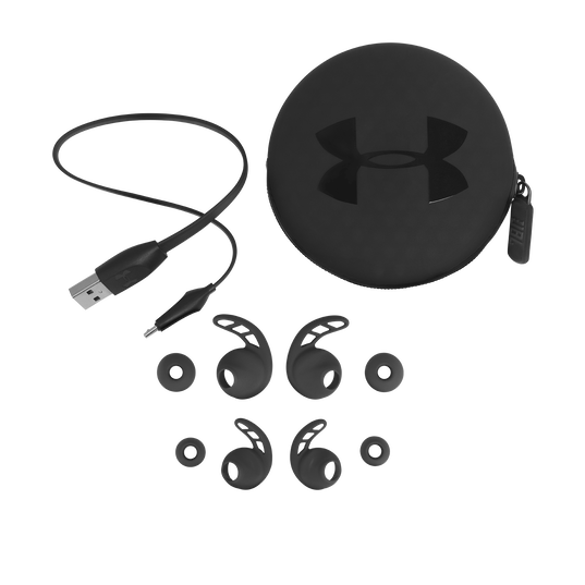 UA Sport Wireless PIVOT - Black - Secure-fitting wireless sport earphones with JBL technology and sound - Detailshot 5