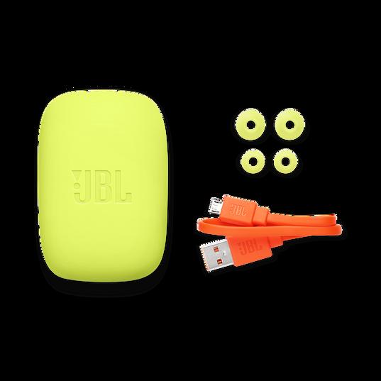 JBL Endurance JUMP - Yellow - Waterproof Wireless Sport In-Ear Headphones - Detailshot 4
