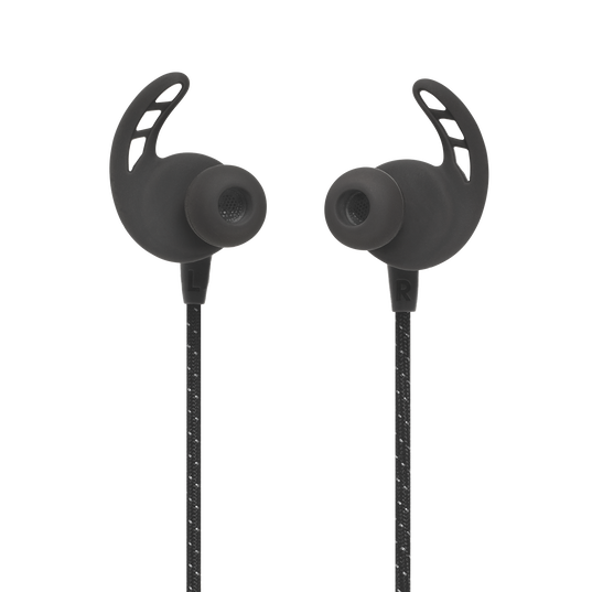 UA Sport Wireless REACT - Black - Secure-fitting wireless sport earphones with JBL technology and sound - Front