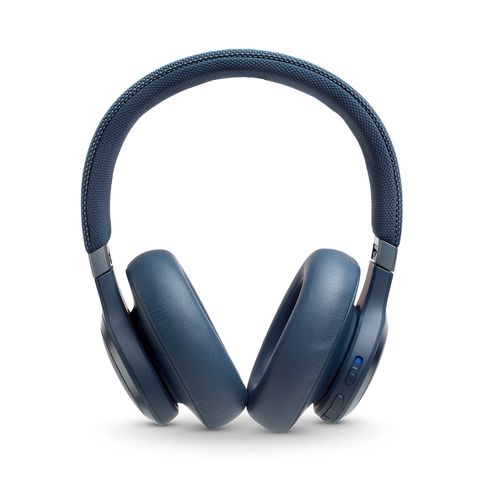 JBL LIVE 650BTNC - Blue - Wireless Over-Ear Noise-Cancelling Headphones - Front