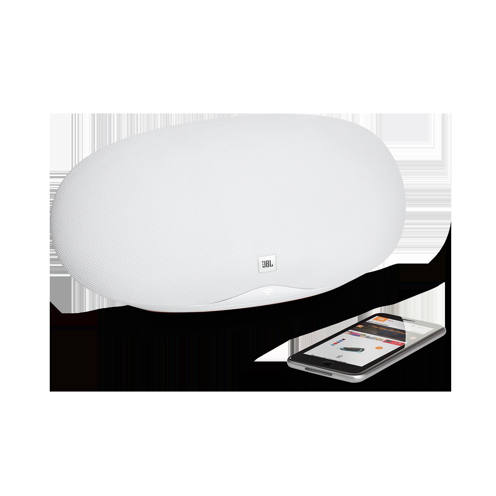 JBL Playlist - White - Wireless speaker with Chromecast built-in - Detailshot 1