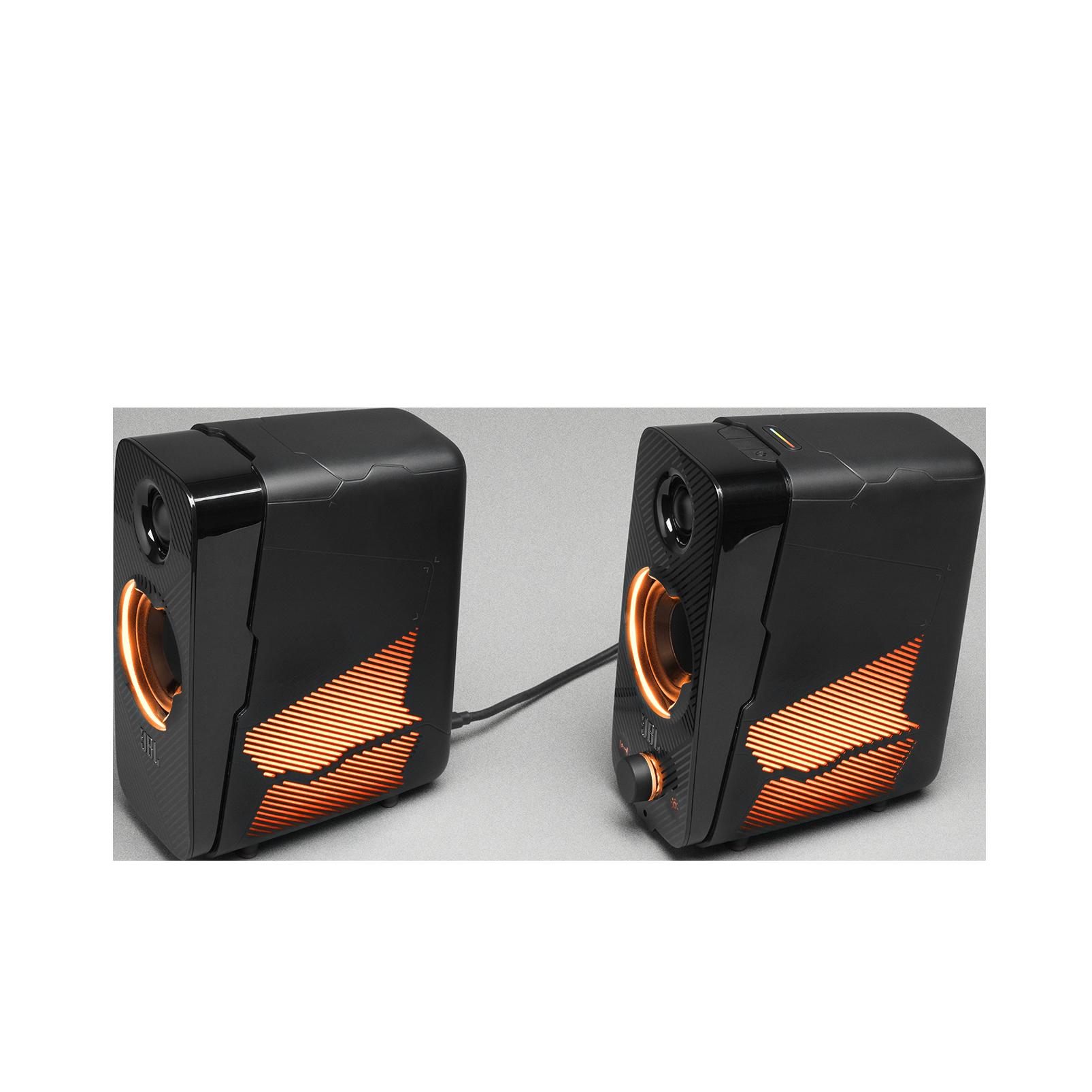 JBL Quantum Duo - Black Matte - PC Gaming Speakers - Detailshot 5
