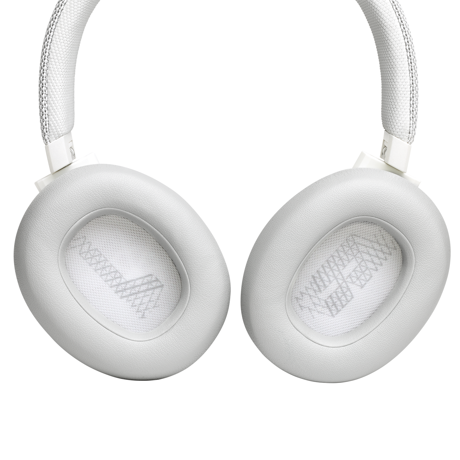 JBL LIVE 650BTNC - White - Wireless Over-Ear Noise-Cancelling Headphones - Detailshot 3