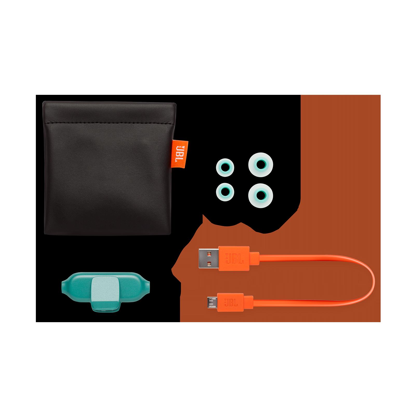 E25BT - Teal - Wireless in-ear headphones - Detailshot 4