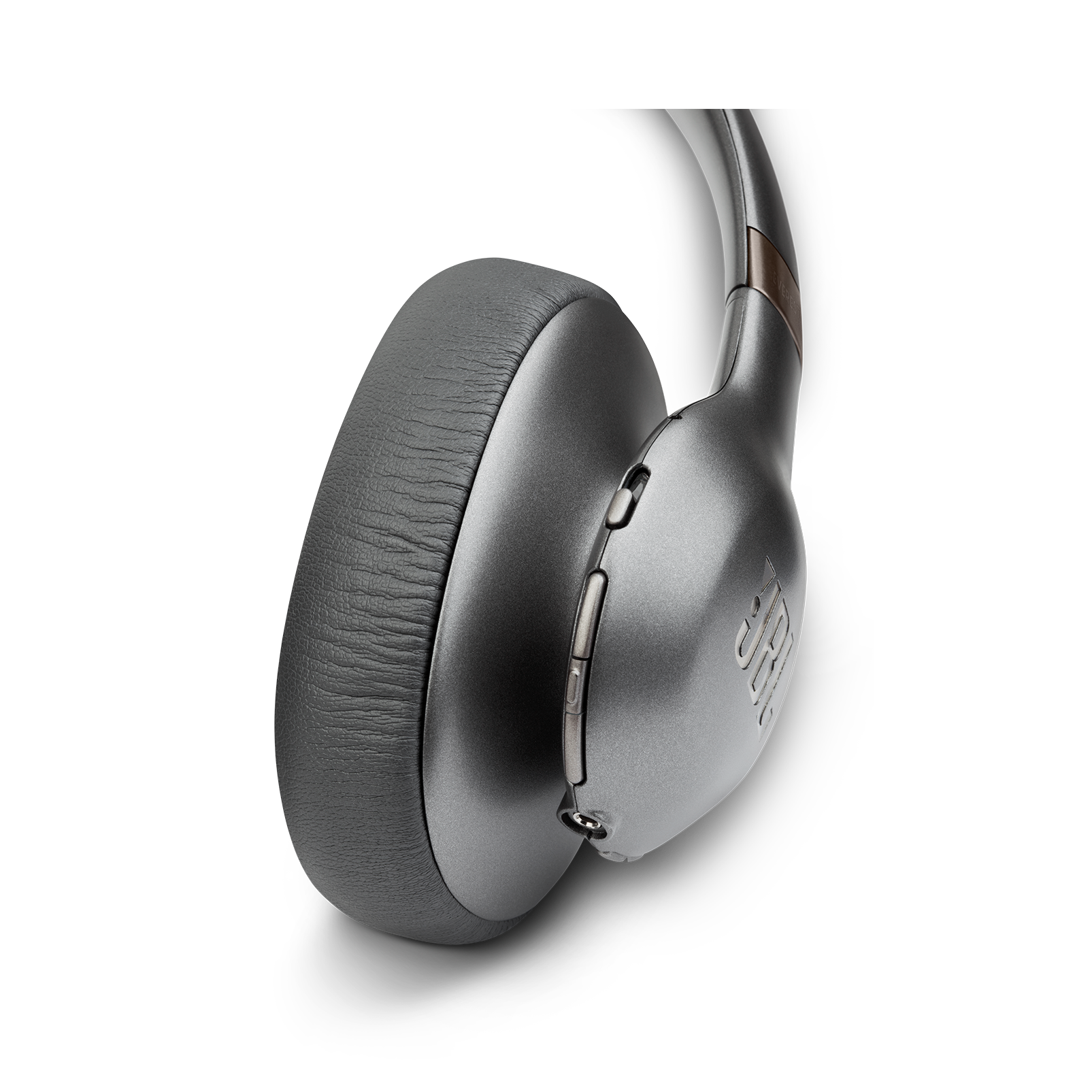 JBL EVEREST™ ELITE 750NC - Gun Metal - Wireless Over-Ear Adaptive Noise Cancelling headphones - Detailshot 2