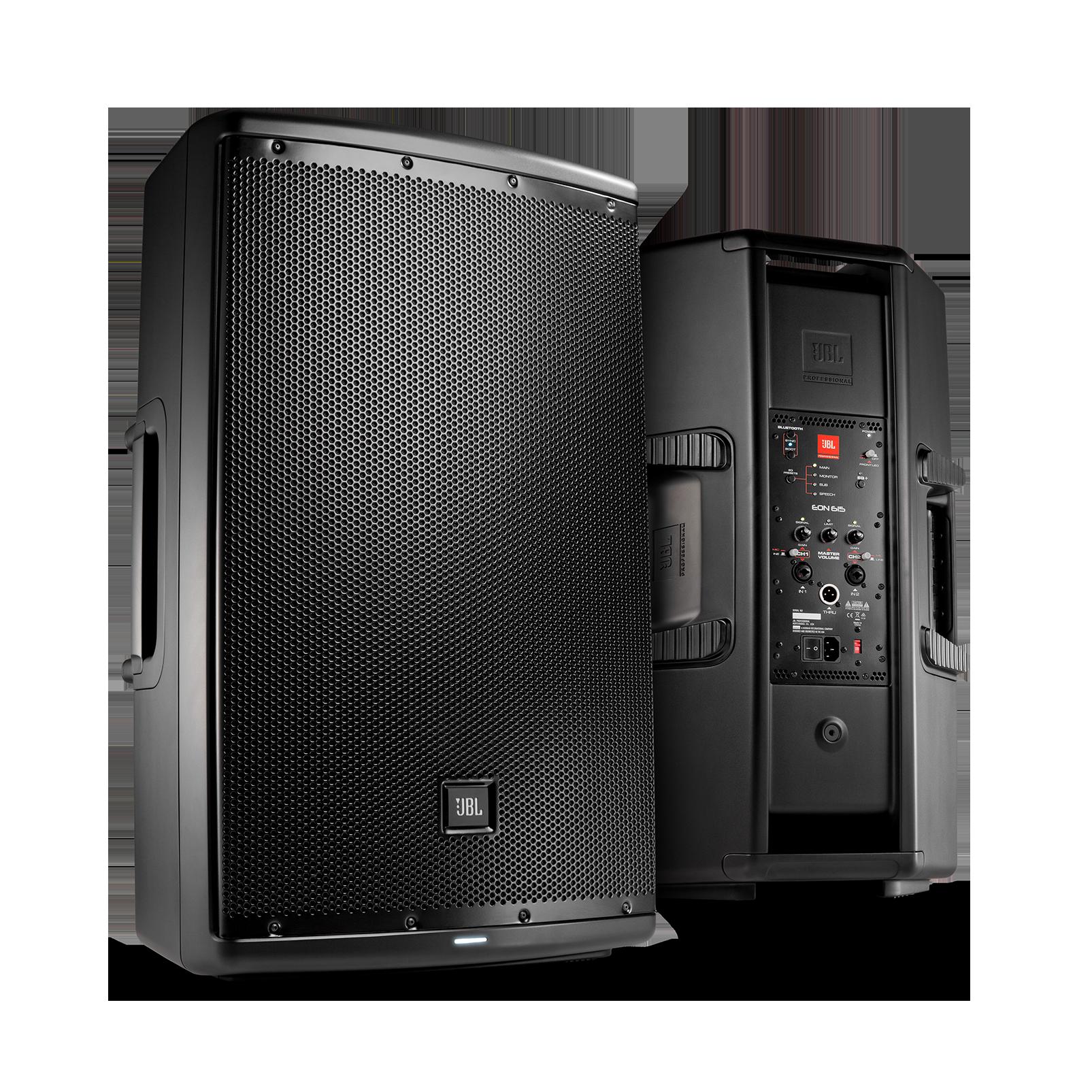 "JBL EON615 - Black - 15"" Two-Way Multipurpose Self-Powered Sound Reinforcement - Hero"