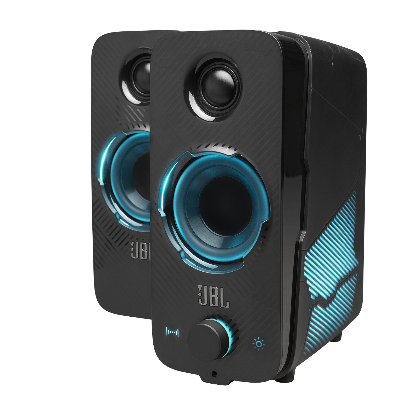 JBL Quantum Duo - Black Matte - PC Gaming Speakers - Detailshot 2