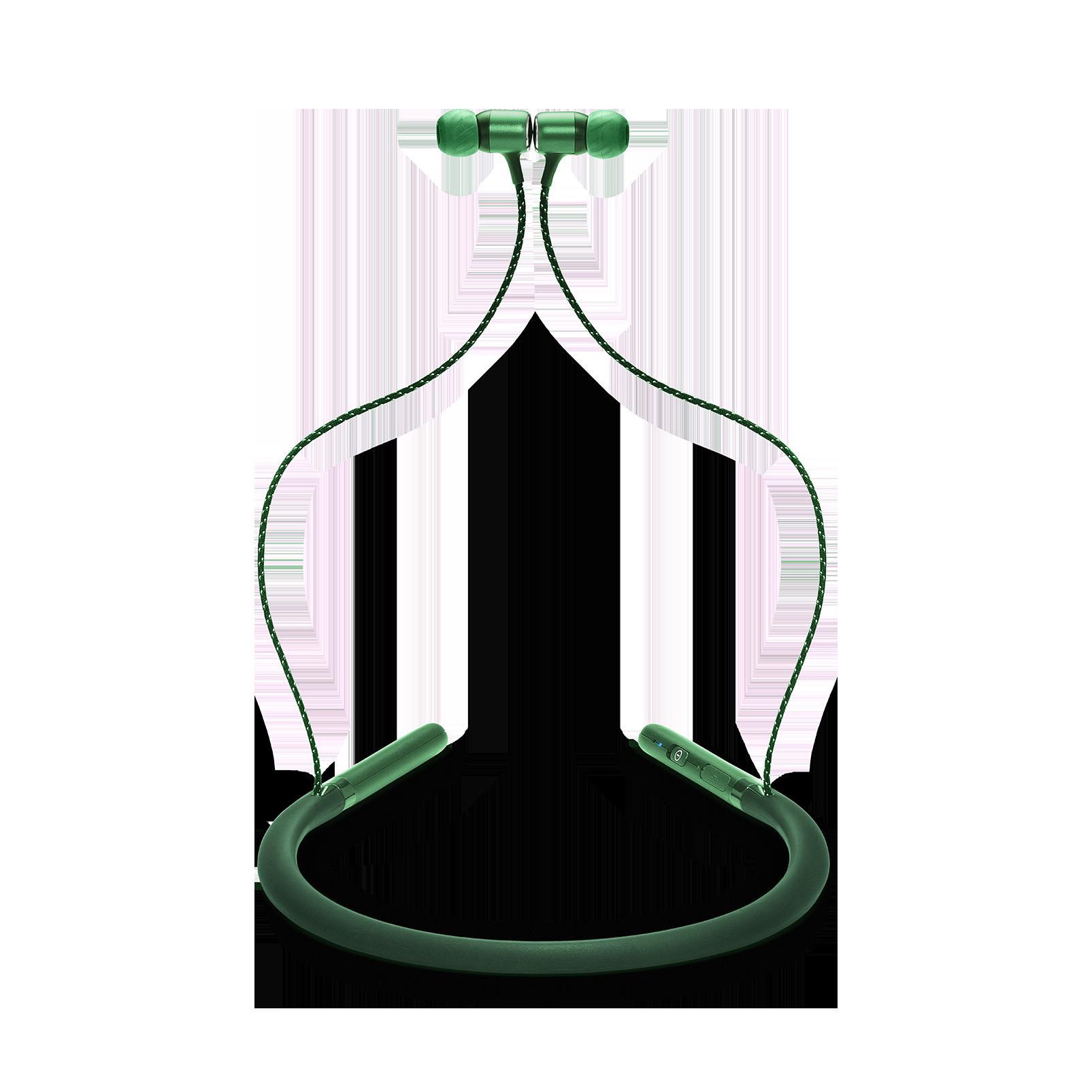 JBL LIVE 200BT - Green - Wireless in-ear neckband headphones - Detailshot 1